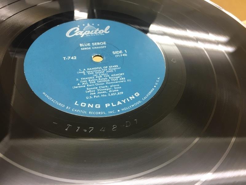LP Serge Chaloff / Blue Serge USオリジ Capitol T-742 ターコイズラベル MONO 盤美品 サージ・チャロフ ブルー・サージ_画像9