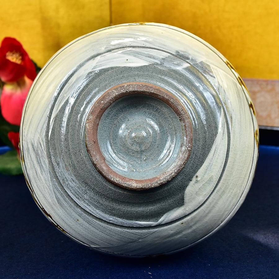 ◆ 韓国人間国宝 池順鐸 作 ◆ 刷毛目 鉄絵唐草文 花瓶 共箱 花瓶 共箱 花器 花入 壺 置物 高麗 中国朝鮮_画像7
