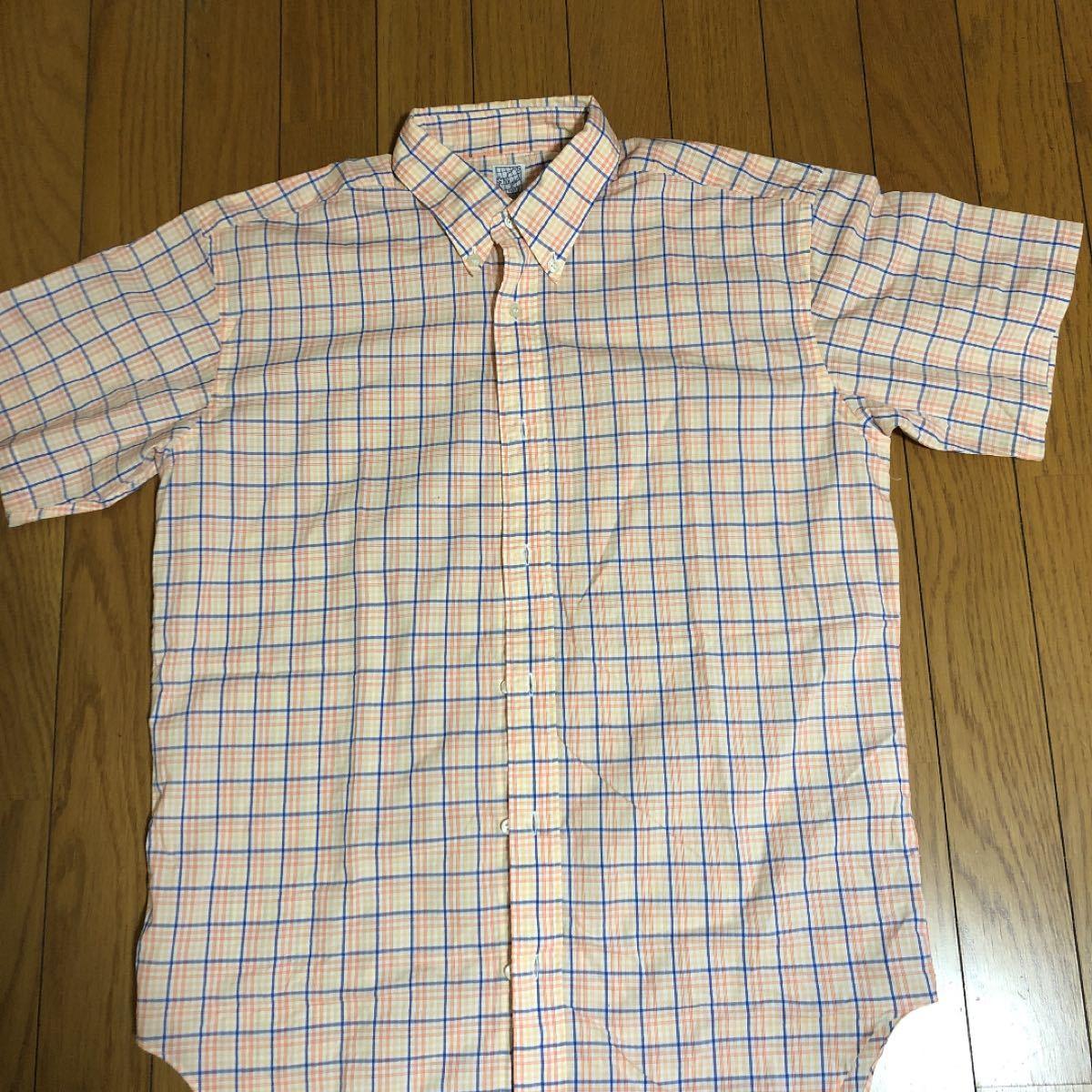 半袖シャツ チェック柄 ボタンダウンシャツ