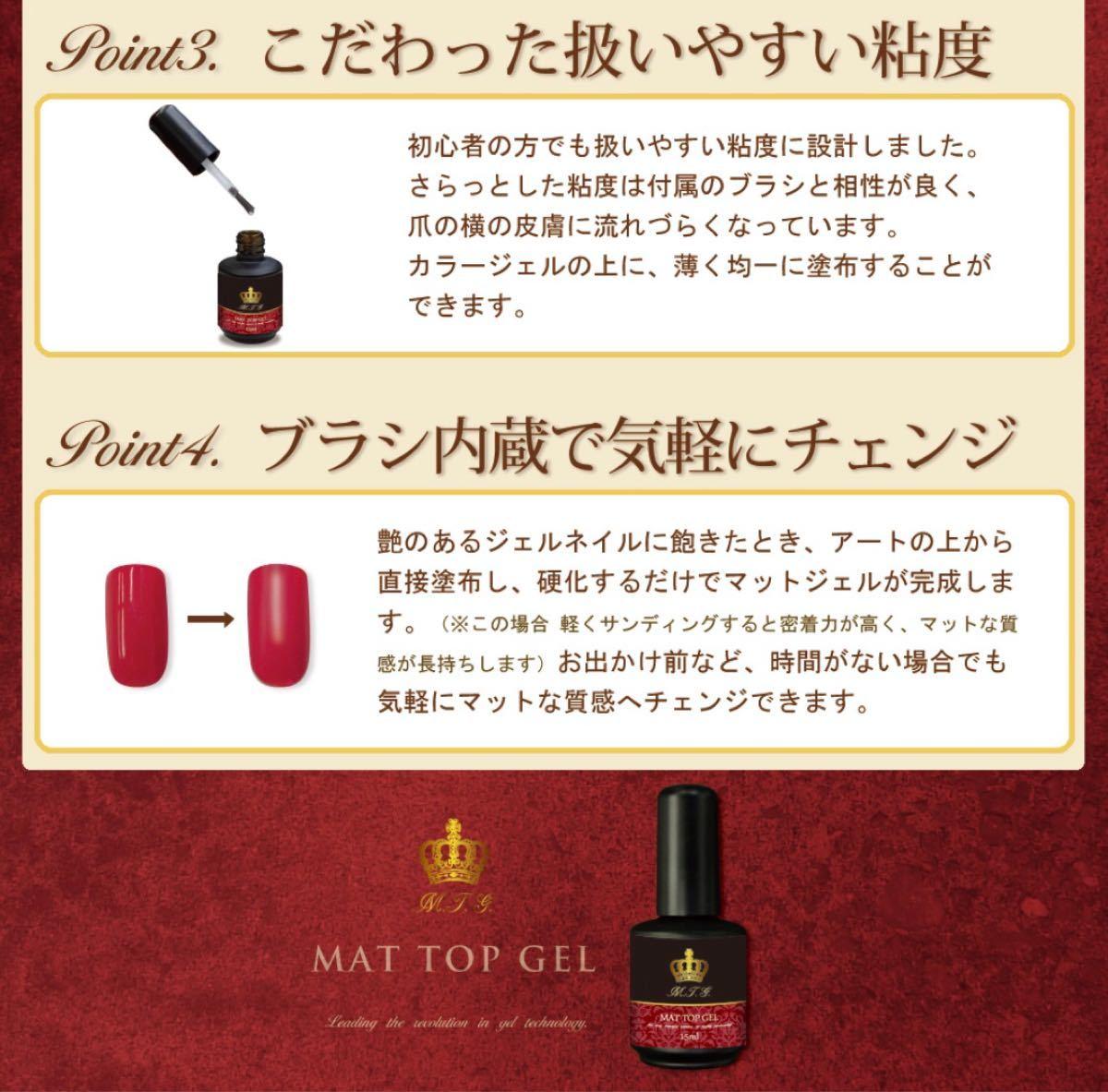 【ジェルネイル】【プロ仕様】ノンワイプトップ&マットトップジェル