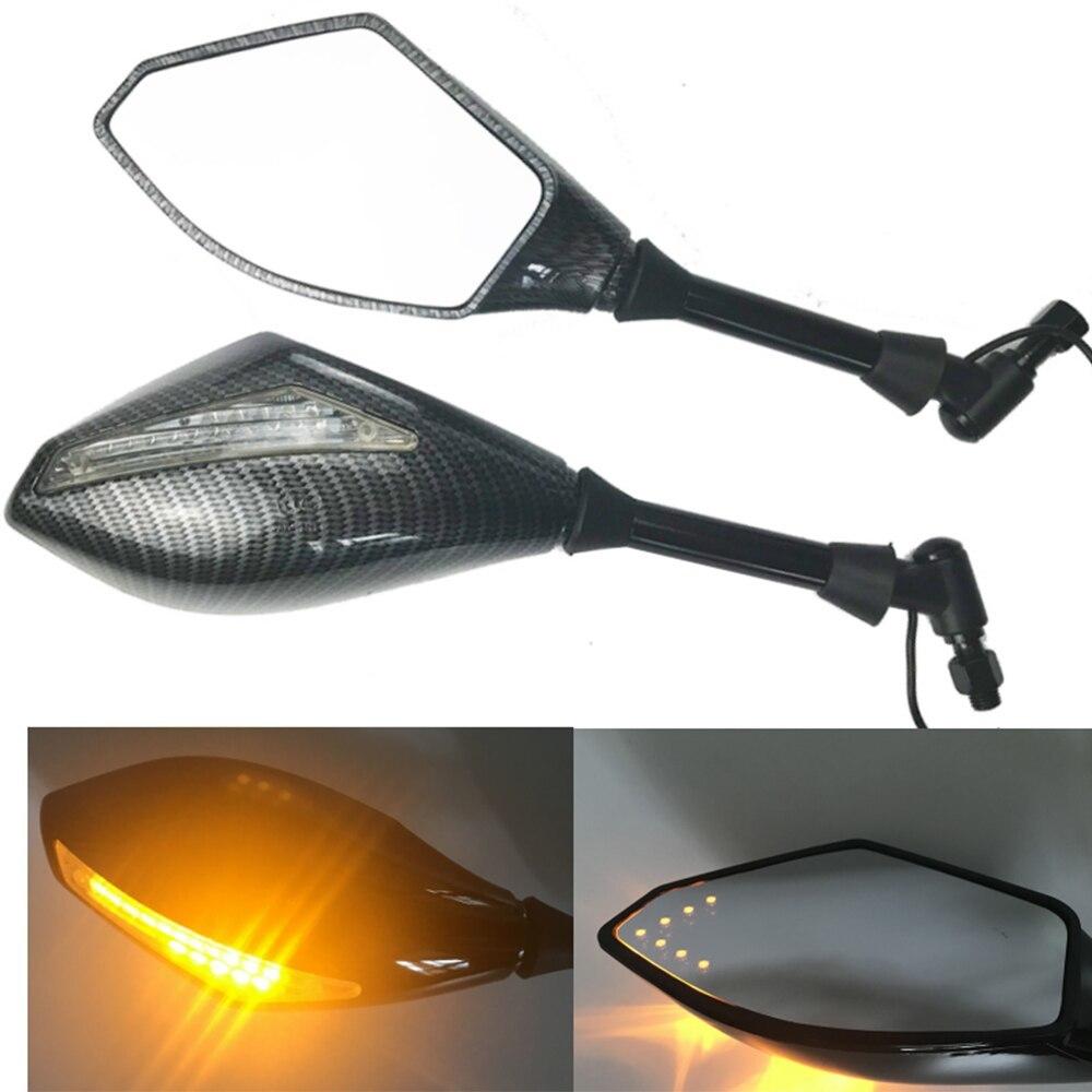 T0066 : 2 X LED ターンライト サイドミラー シグナル インジケーター バックミラー オートバイ ホンダ スズキ カワサキ ドゥカティ ヤマハ_画像1