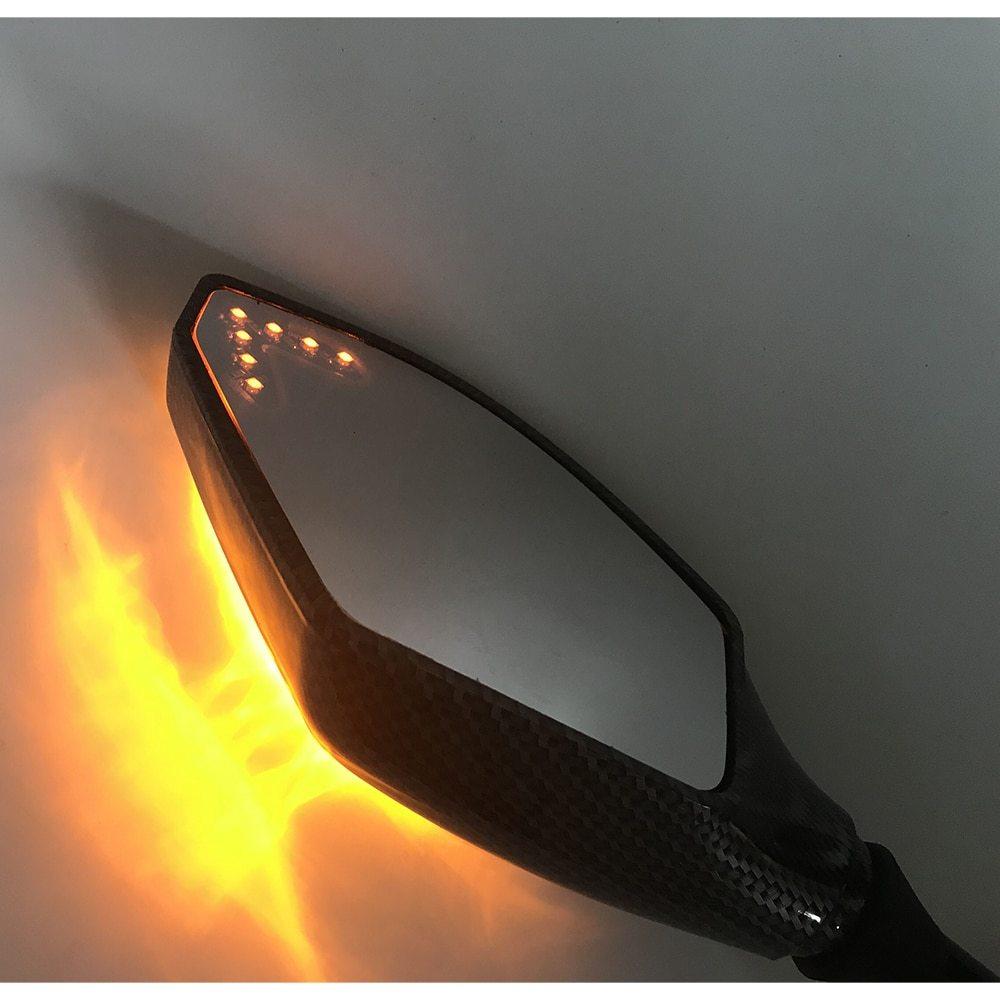 T0066 : 2 X LED ターンライト サイドミラー シグナル インジケーター バックミラー オートバイ ホンダ スズキ カワサキ ドゥカティ ヤマハ_画像6
