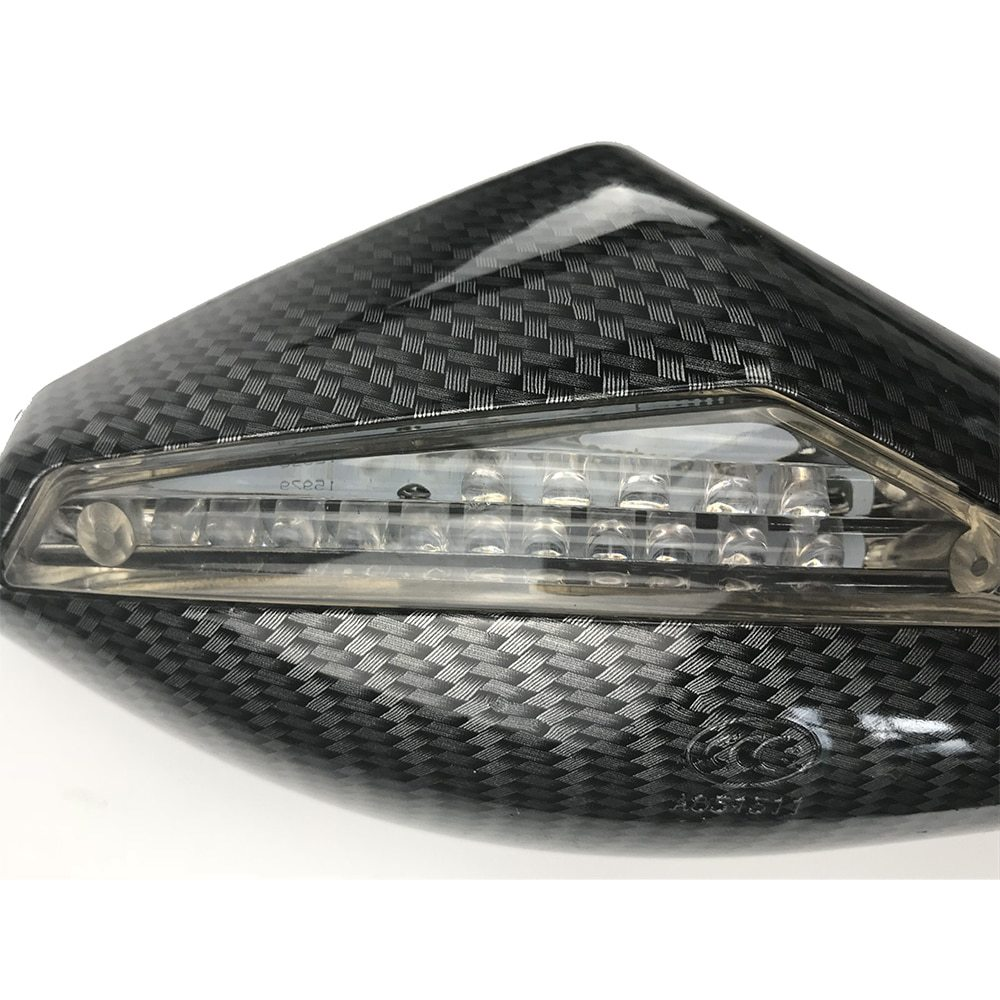 T0066 : 2 X LED ターンライト サイドミラー シグナル インジケーター バックミラー オートバイ ホンダ スズキ カワサキ ドゥカティ ヤマハ_画像4