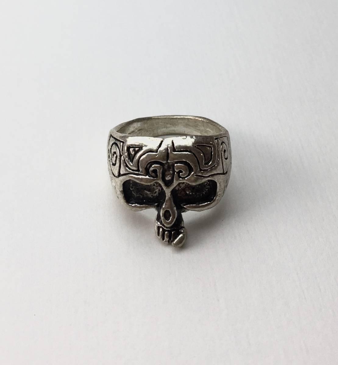 スカル リング 指輪 髑髏 ドクロ 骸骨 ガイコツ SKULL シルバーアクセサリー アンティーク アメリカ USA 雑貨 ヴィンテージ vintage 6_画像1