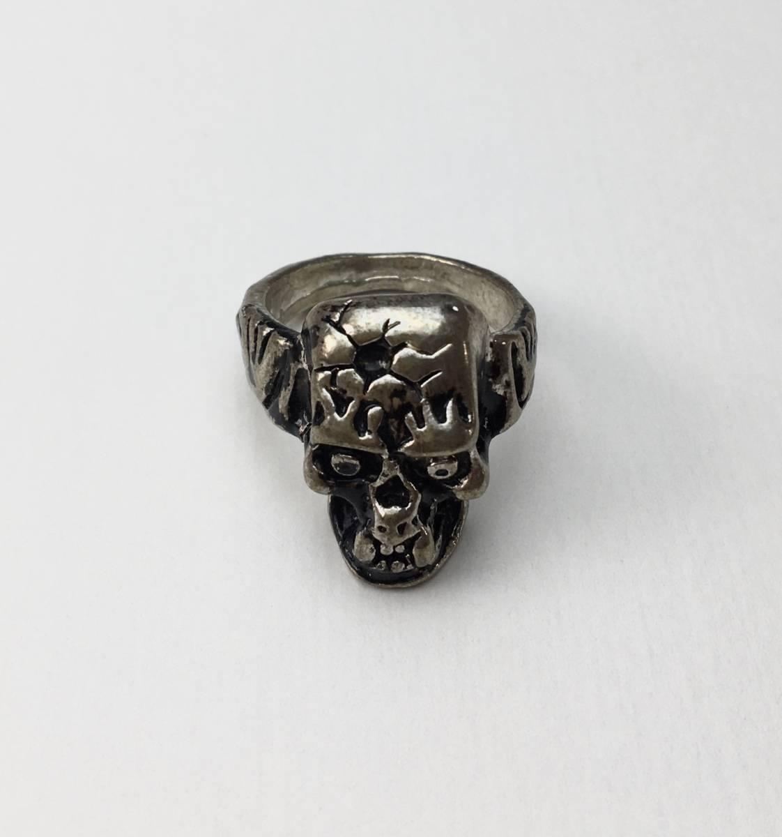 スカル リング 指輪 髑髏 ドクロ 骸骨 ガイコツ SKULL シルバーアクセサリー アンティーク アメリカ USA 雑貨 ヴィンテージ vintage 3_画像1
