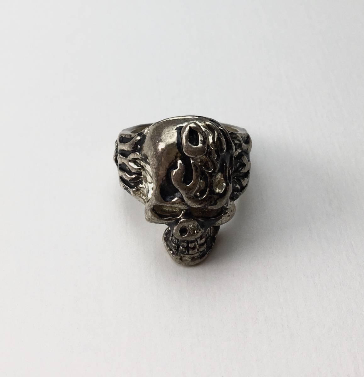 スカル リング 指輪 髑髏 ドクロ 骸骨 ガイコツ SKULL シルバーアクセサリー アンティーク アメリカ USA 雑貨 ヴィンテージ vintage 8_画像1