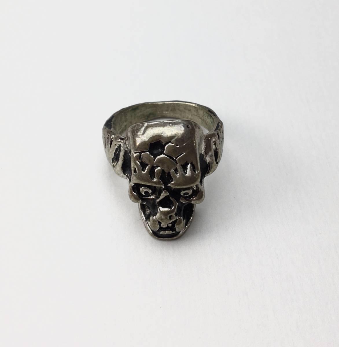 スカル リング 指輪 髑髏 ドクロ 骸骨 ガイコツ SKULL シルバーアクセサリー アンティーク アメリカ USA 雑貨 ヴィンテージ vintage 2_画像1