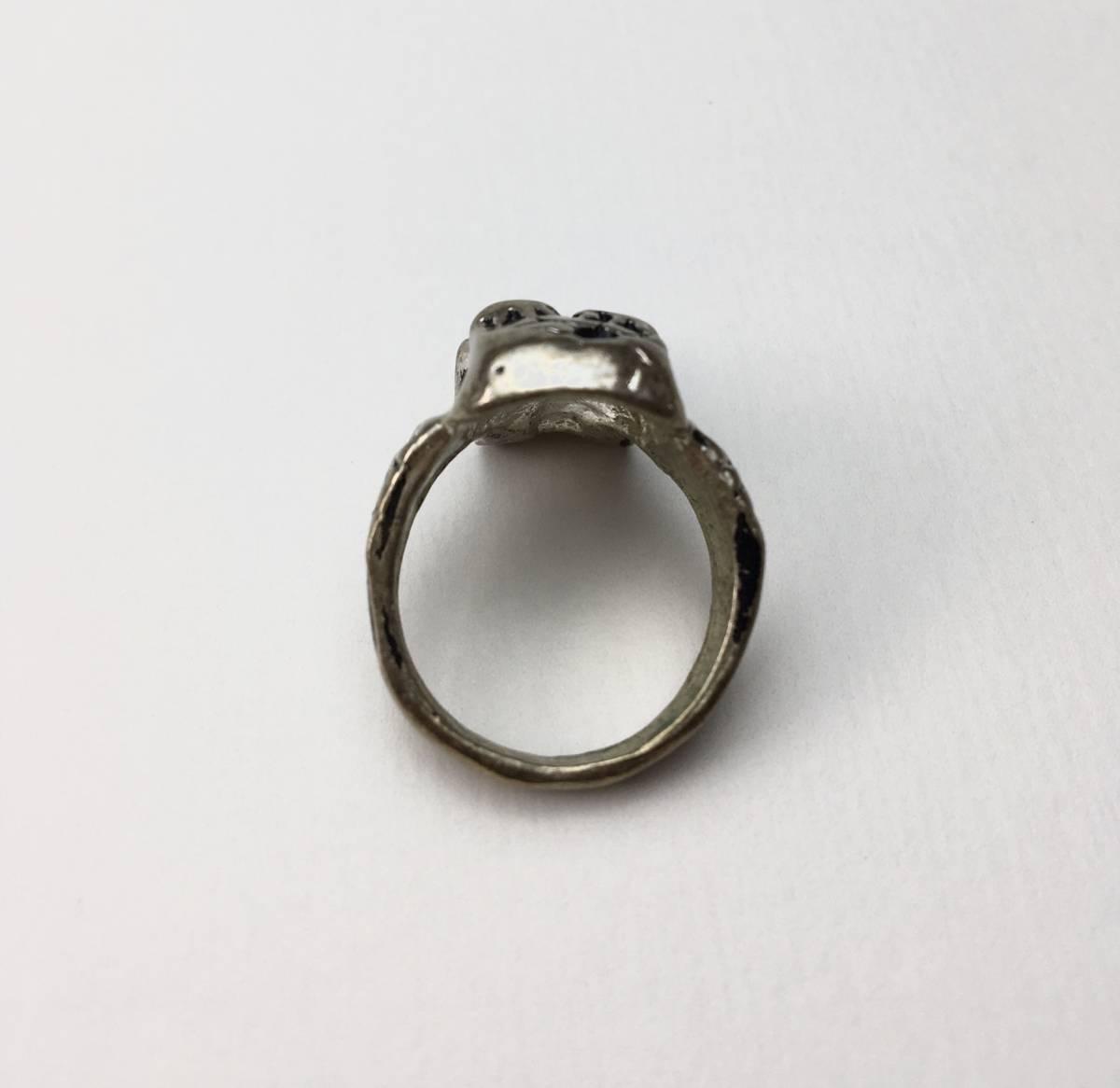 スカル リング 指輪 髑髏 ドクロ 骸骨 ガイコツ SKULL シルバーアクセサリー アンティーク アメリカ USA 雑貨 ヴィンテージ vintage 2_画像2