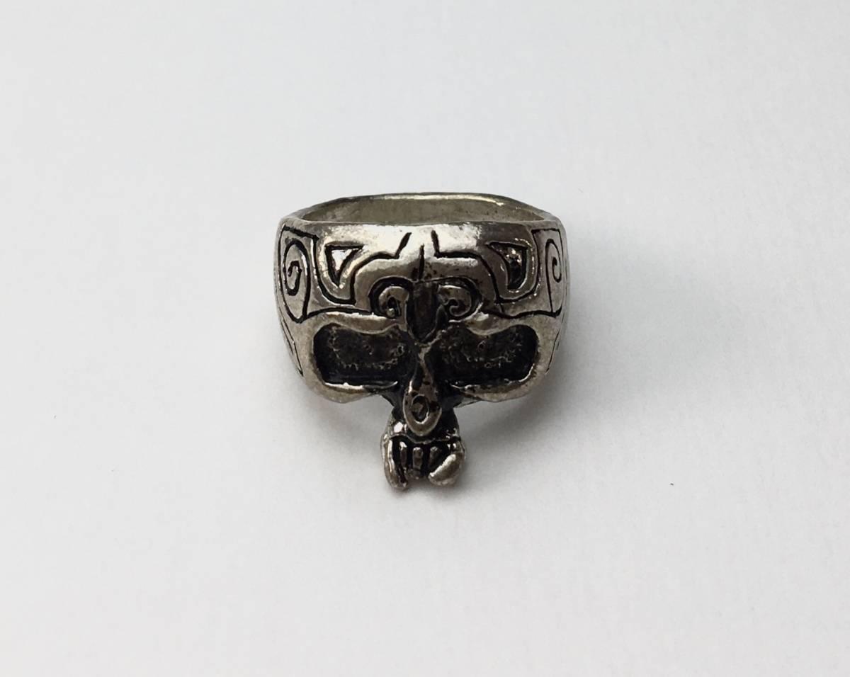 スカル リング 指輪 髑髏 ドクロ 骸骨 ガイコツ SKULL シルバーアクセサリー アンティーク アメリカ USA 雑貨 ヴィンテージ vintage 5_画像1