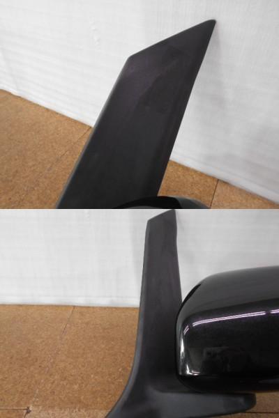 タントエグゼ L455S 左 ドアミラー 手動可倒 黒/87940-B2C50 中古品[H102-KN1749]_素地部に薄擦傷、色褪せあり