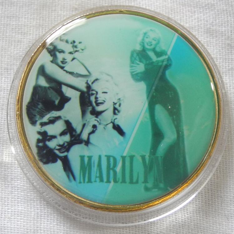 マリリン・モンロー コレクションコイン 記念メダル 金メダル 緑 レトロ カラー版 24金P 1oz 1オンス アメリカ 金貨_画像1
