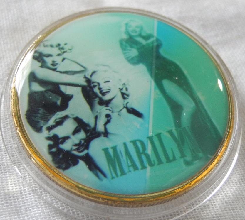 マリリン・モンロー コレクションコイン 記念メダル 金メダル 緑 レトロ カラー版 24金P 1oz 1オンス アメリカ 金貨_画像3