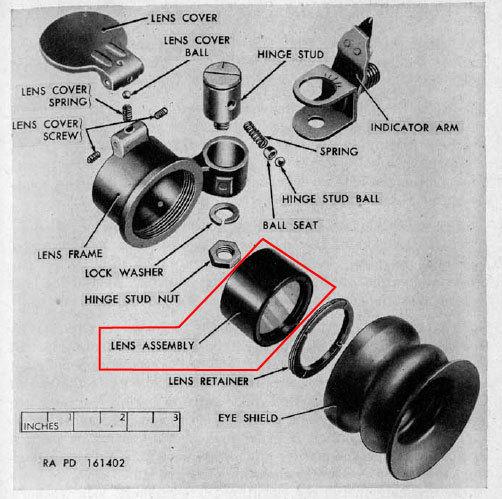米軍 M20 バズーカ 3.5インチ ロケットランチャー 照準器 交換用レンズ_画像5