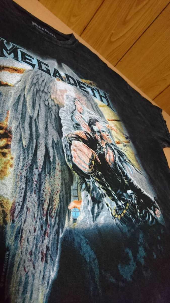 MEGADETH Tシャツ 半袖 シャツ メガデス ダイダイ ヴィンテージ ヘヴィメタル ヘビメタ アメリカ 古着 中古 United Abominations バンド