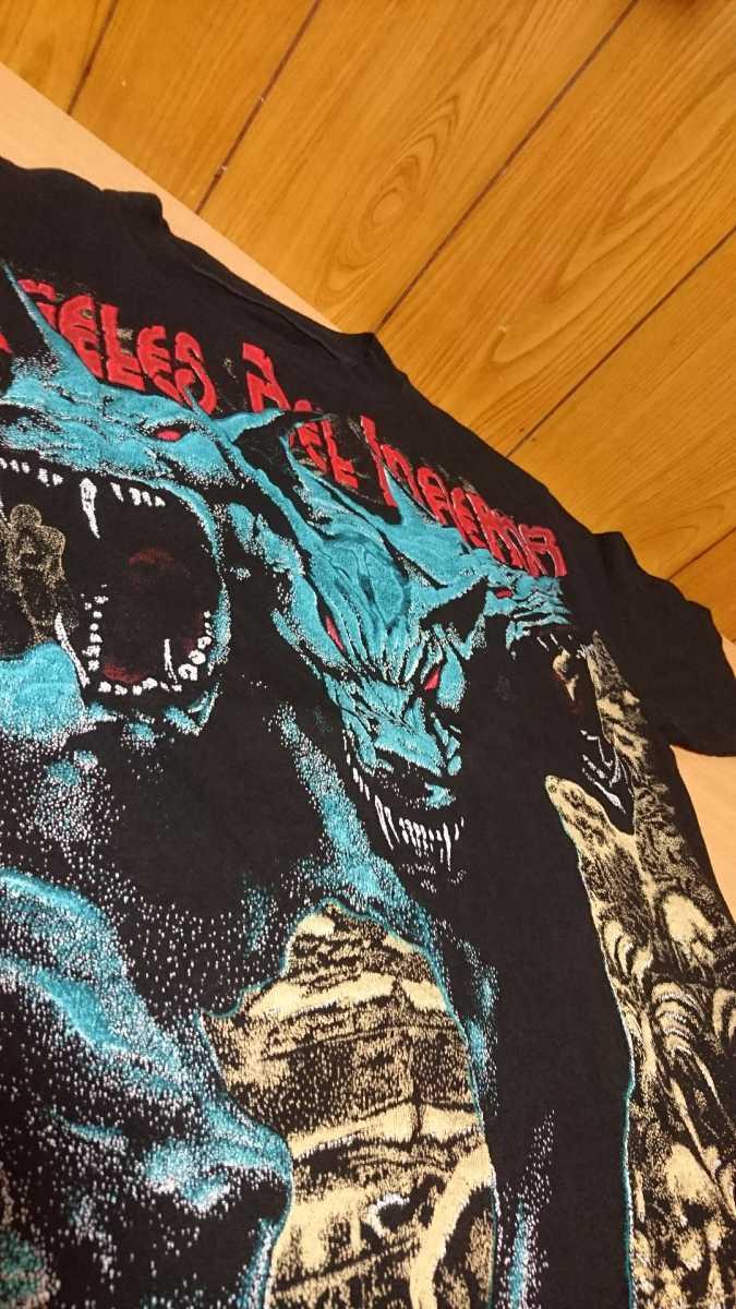Angels del infierno ヘビメタ Tシャツ 半袖 シャツ アメリカ スペイン ワーナー バンドT バスクカントリー ロックT コア ハード 古着 中古