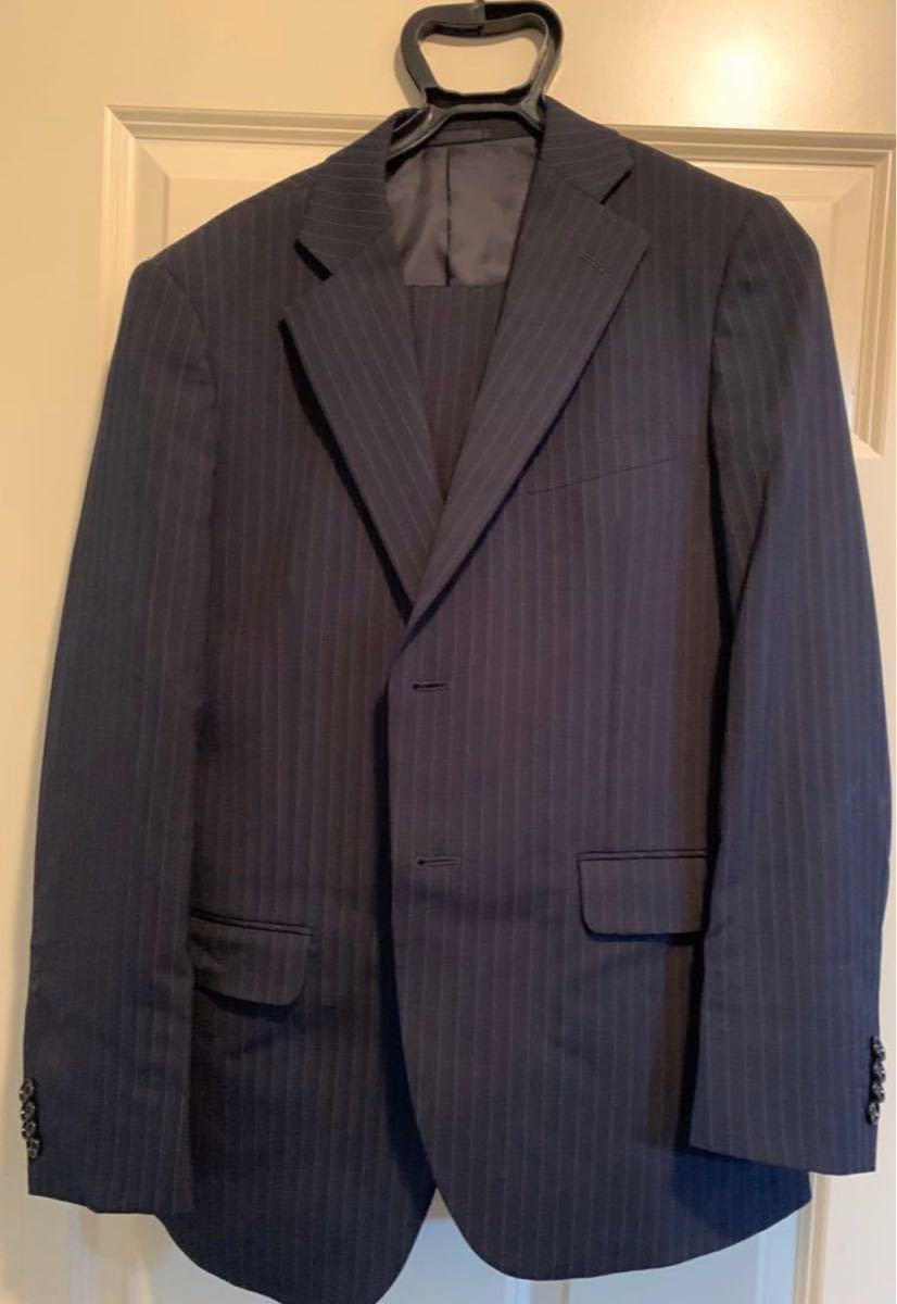 【Business Expert】スーツ上下 ストライプ柄 ストライプスーツ