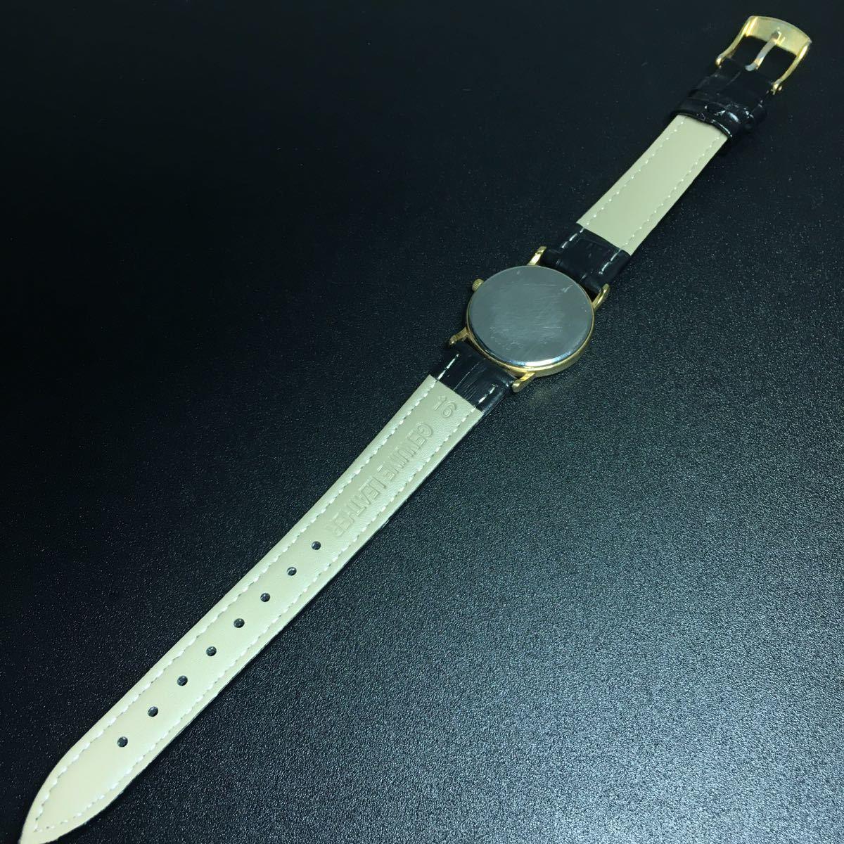 【美品 正規品】ティファニー 腕時計 ローマンインデックス ゴールド クラシック ラウンド レディース 【2005Ti36】_画像10