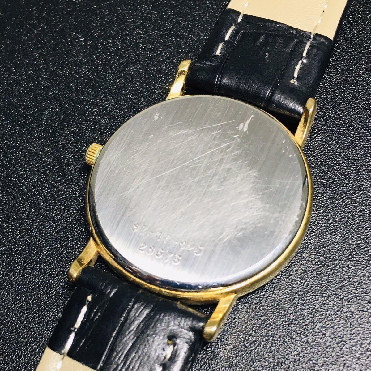 【美品 正規品】ティファニー 腕時計 ローマンインデックス ゴールド クラシック ラウンド レディース 【2005Ti36】_画像8