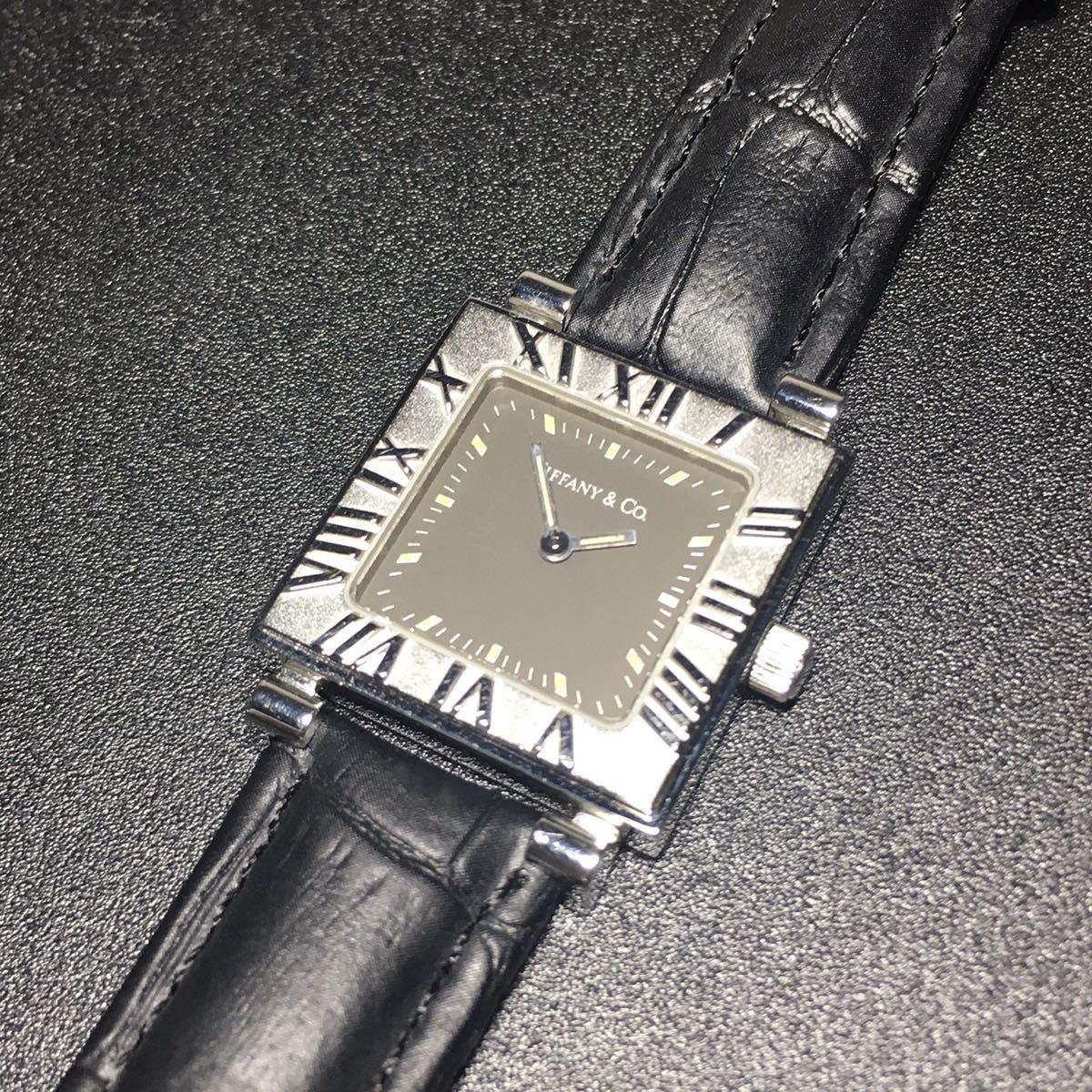 【美品 正規品】ティファニー 腕時計 アトラス スクエア レディース 可動品 時計 TIFFANY クオーツ 【2006Ti10】_画像7