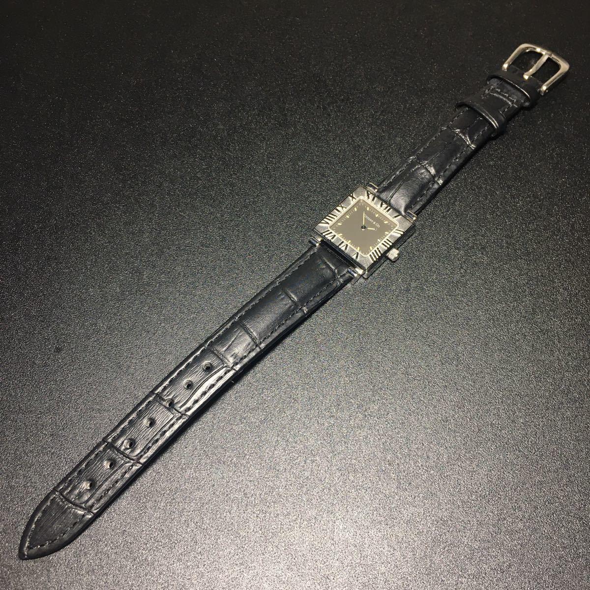 【美品 正規品】ティファニー 腕時計 アトラス スクエア レディース 可動品 時計 TIFFANY クオーツ 【2006Ti10】_画像8