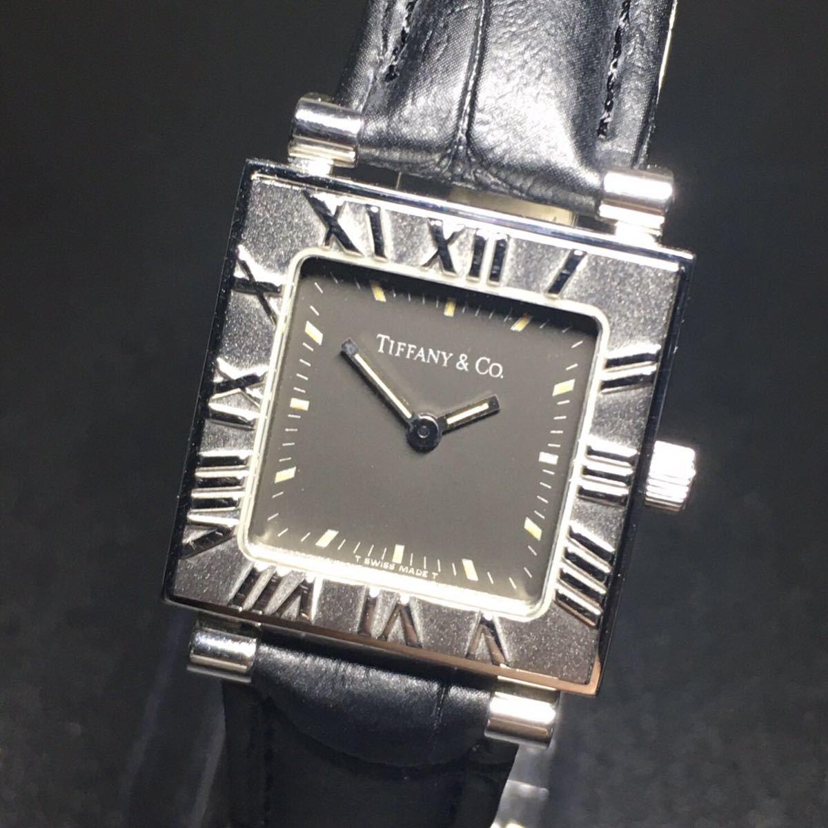 【美品 正規品】ティファニー 腕時計 アトラス スクエア レディース 可動品 時計 TIFFANY クオーツ 【2006Ti10】_画像4