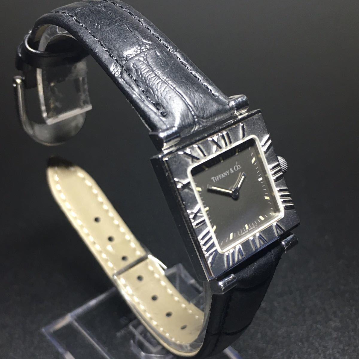 【美品 正規品】ティファニー 腕時計 アトラス スクエア レディース 可動品 時計 TIFFANY クオーツ 【2006Ti10】_画像3