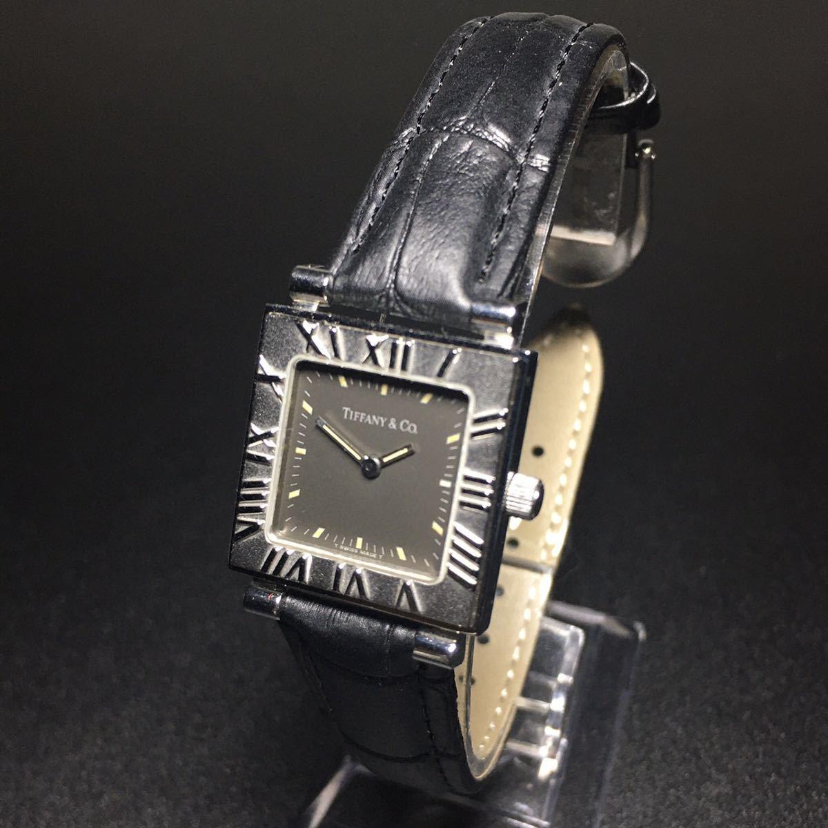 【美品 正規品】ティファニー 腕時計 アトラス スクエア レディース 可動品 時計 TIFFANY クオーツ 【2006Ti10】_画像1