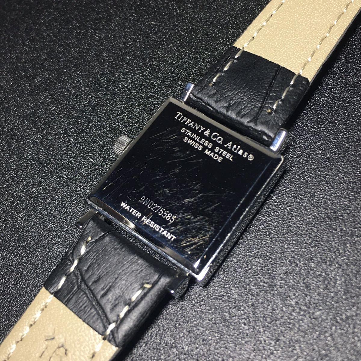 【美品 正規品】ティファニー 腕時計 アトラス スクエア レディース 可動品 時計 TIFFANY クオーツ 【2006Ti10】_画像10