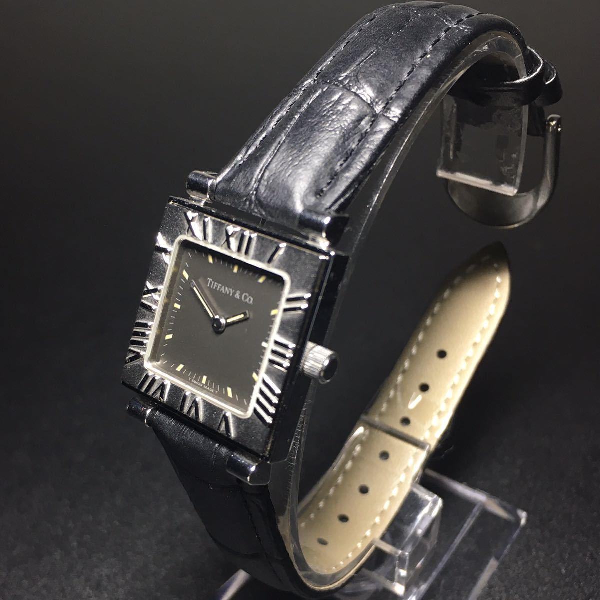 【美品 正規品】ティファニー 腕時計 アトラス スクエア レディース 可動品 時計 TIFFANY クオーツ 【2006Ti10】_画像2