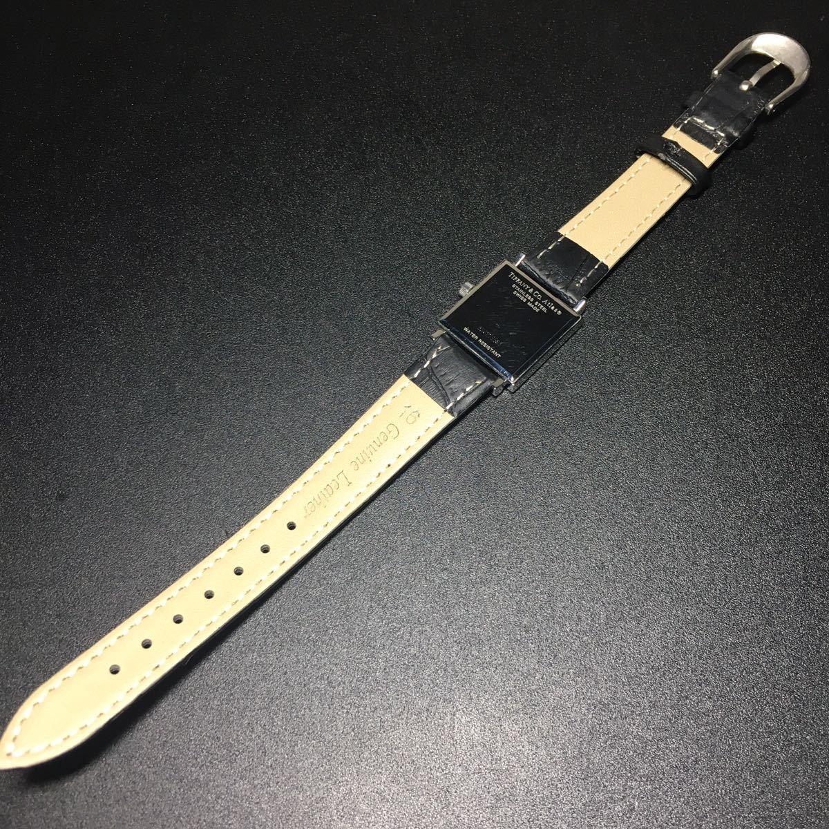 【美品 正規品】ティファニー 腕時計 アトラス スクエア レディース 可動品 時計 TIFFANY クオーツ 【2006Ti10】_画像9