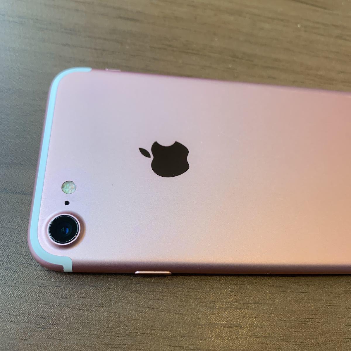iPhone7 32G Rose GOLD SIMフリー 中古 比較的美品 6596_画像7