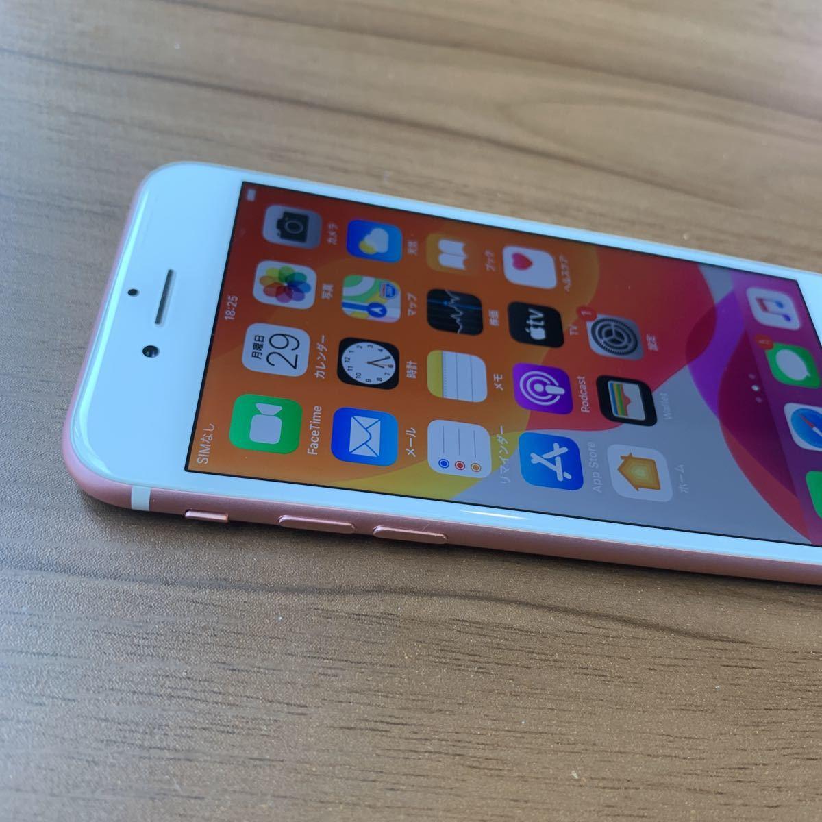 iPhone7 32G Rose GOLD SIMフリー 中古 比較的美品 6596_画像4