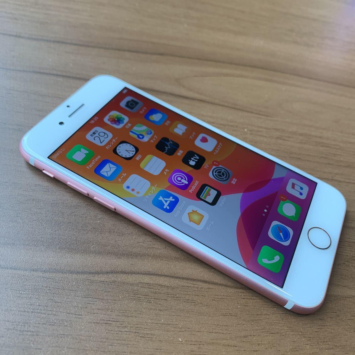 iPhone7 32G Rose GOLD SIMフリー 中古 比較的美品 6596_画像3