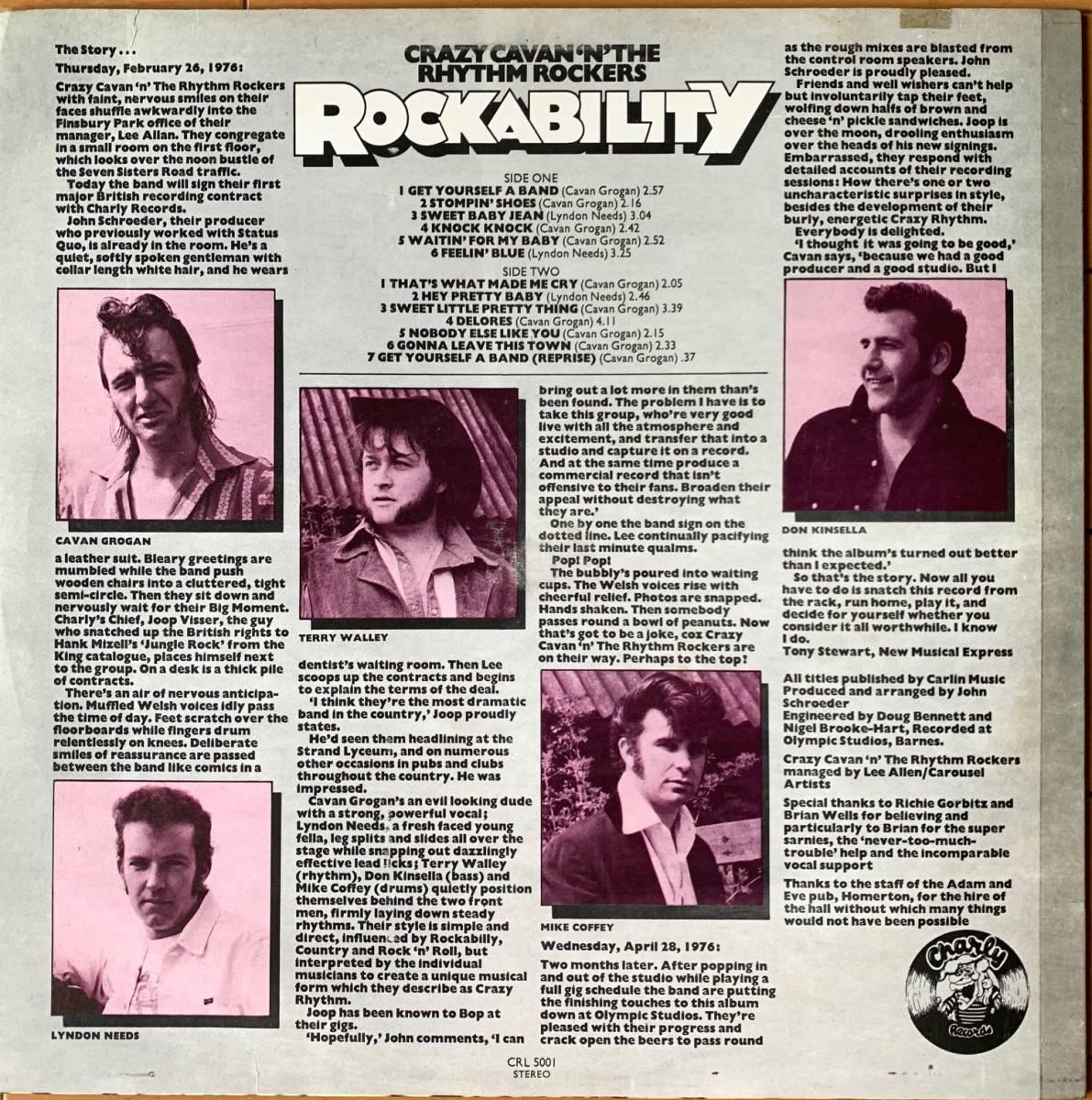 【値下】LP CRAZY CAVAN テッズ ROCKABILITY ロカビリー ネオロカ CHARLY 1976年 TEDS 名盤_画像2