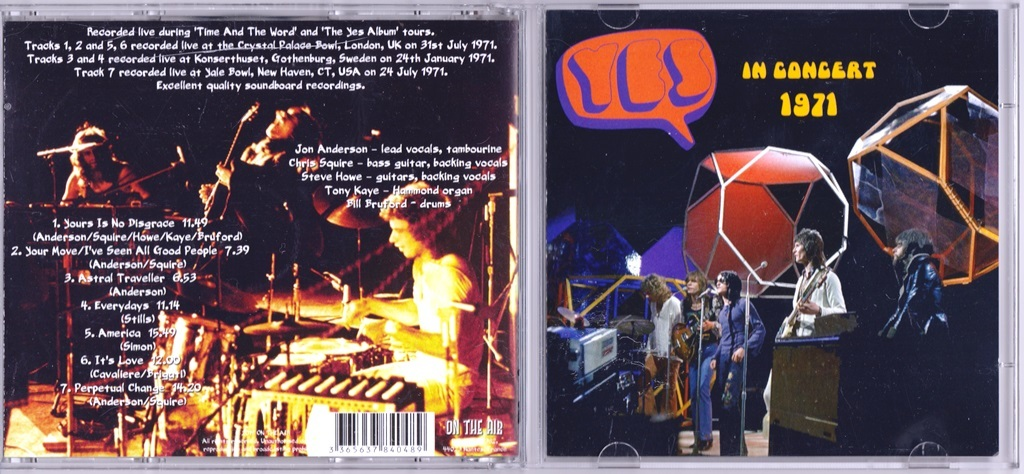 Yes - In Concert 1971 CD