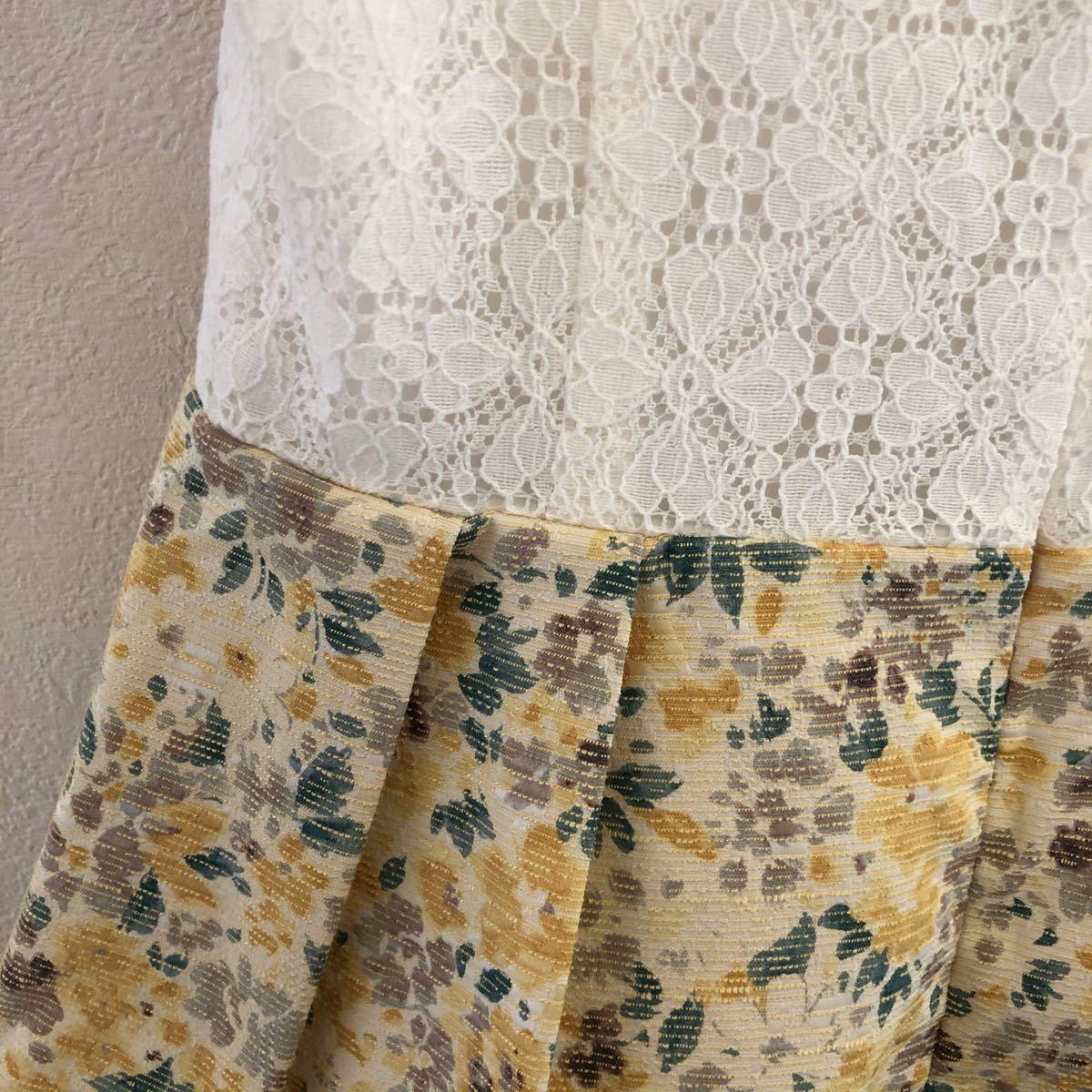 花柄ワンピース 花柄スカート きれいめワンピース