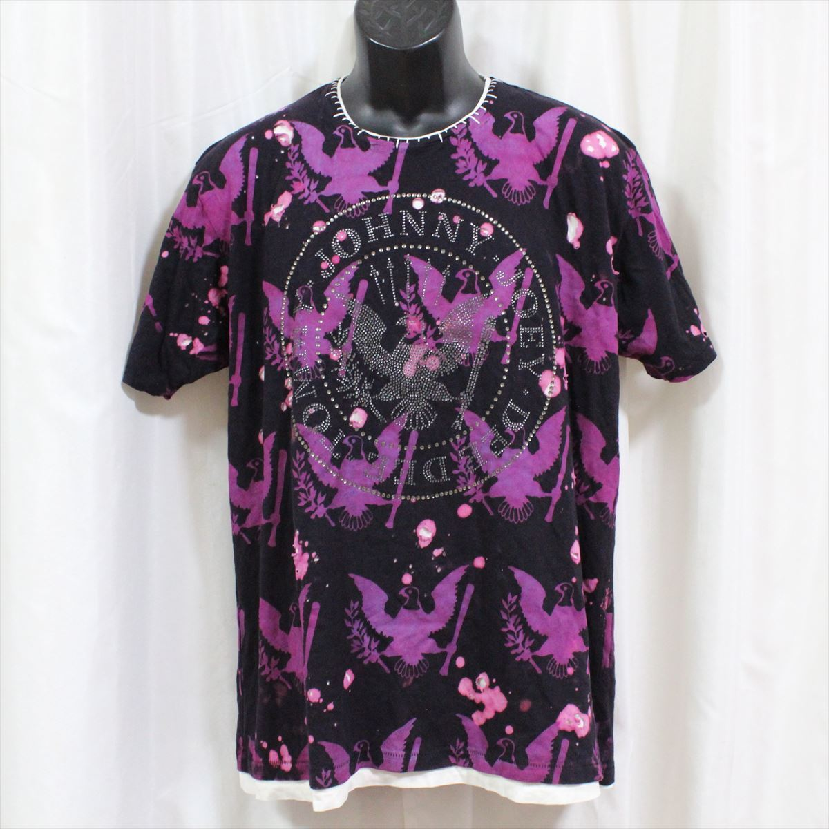 サディスティックアクション SADISTIC ACTION アイコニック メンズ半袖Tシャツ Mサイズ ICONIC COUTURE 新品 ラモーンズ Ramones_画像1