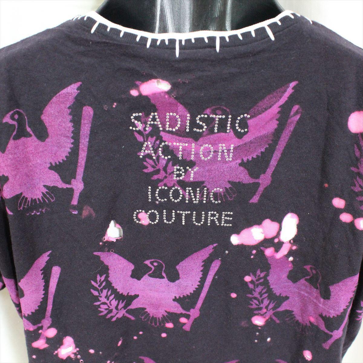 サディスティックアクション SADISTIC ACTION アイコニック メンズ半袖Tシャツ Mサイズ ICONIC COUTURE 新品 ラモーンズ Ramones_画像5