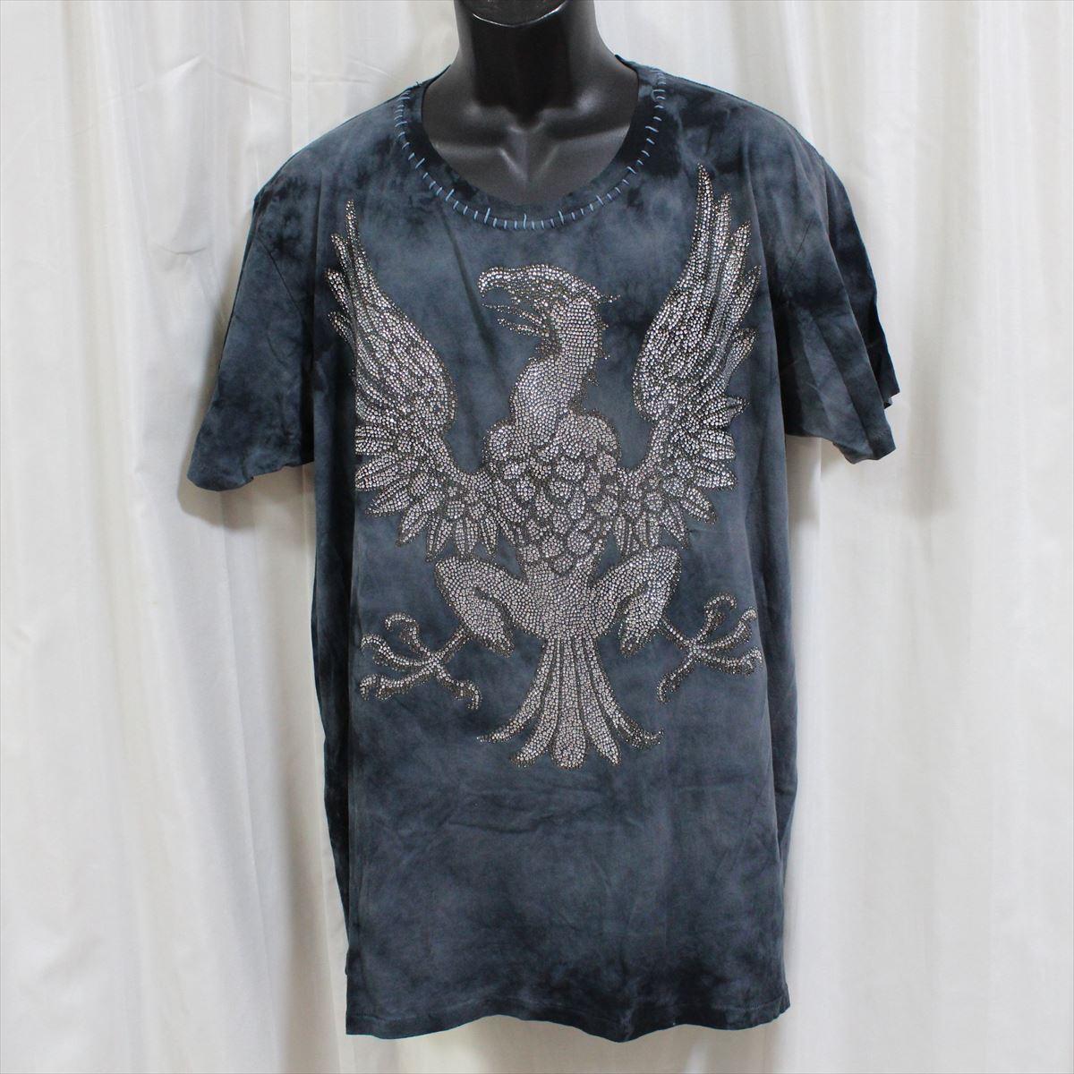 アイコニック Iconic Couture メンズ半袖Tシャツ ネイビー Lサイズ 新品 紺_画像1
