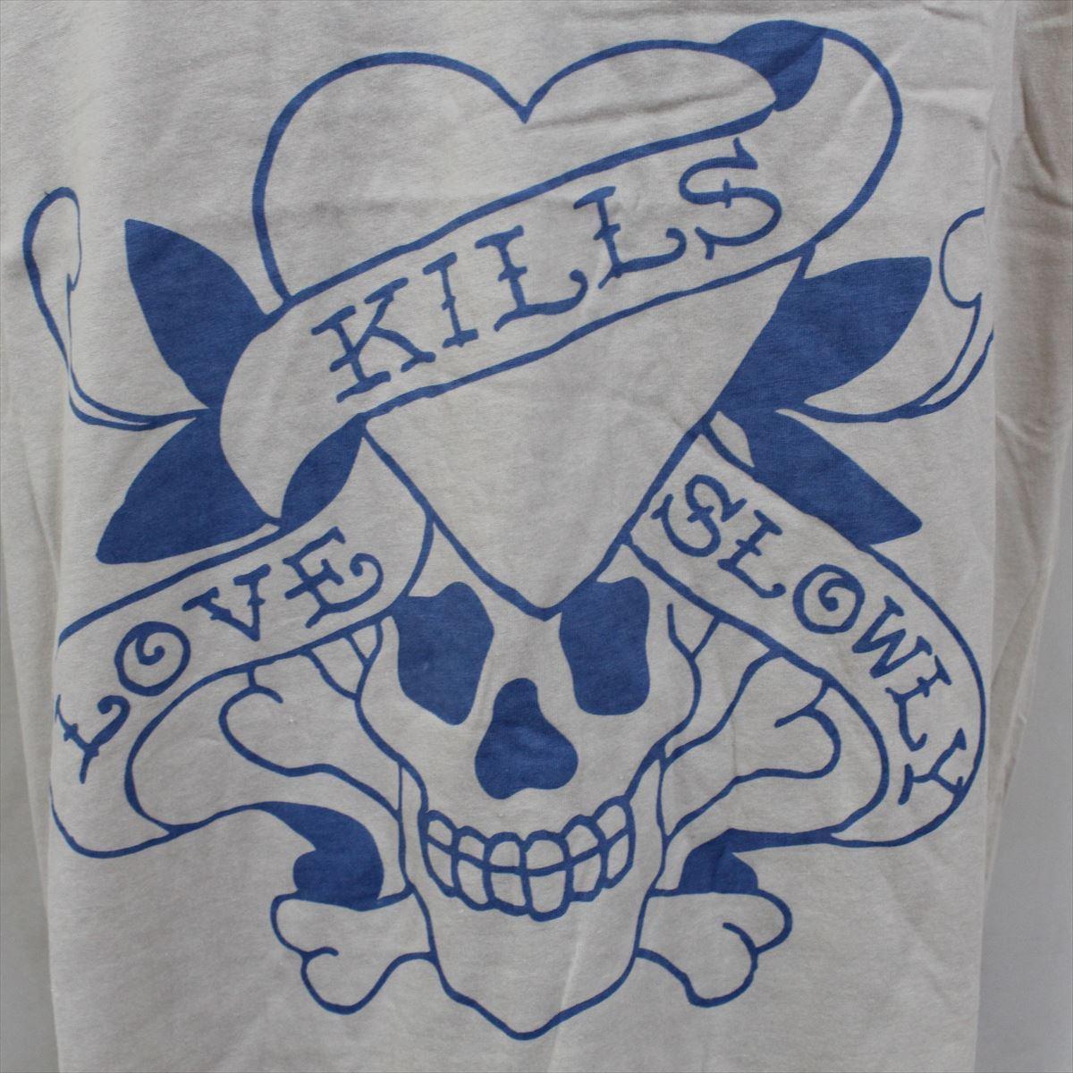 エドハーディー ED HARDY メンズ半袖Tシャツ Sサイズ サーフ M02SPR052 新品 ブルー LOVE KILLS SLOWLY_画像2
