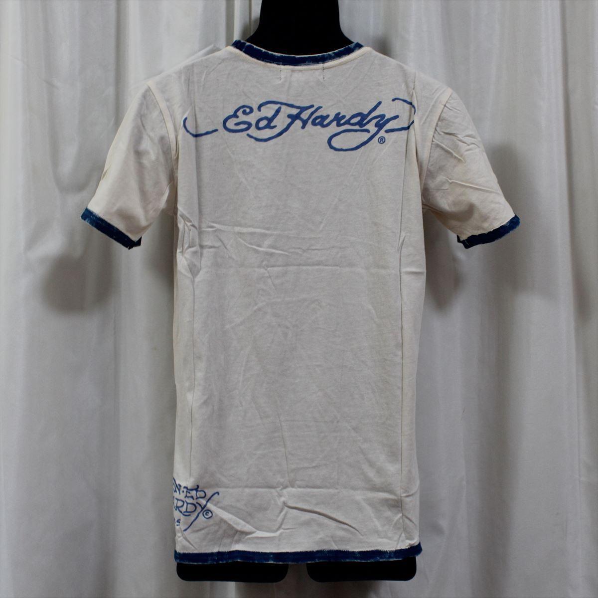 エドハーディー ED HARDY メンズ半袖Tシャツ Sサイズ サーフ M02SPR052 新品 ブルー LOVE KILLS SLOWLY_画像4