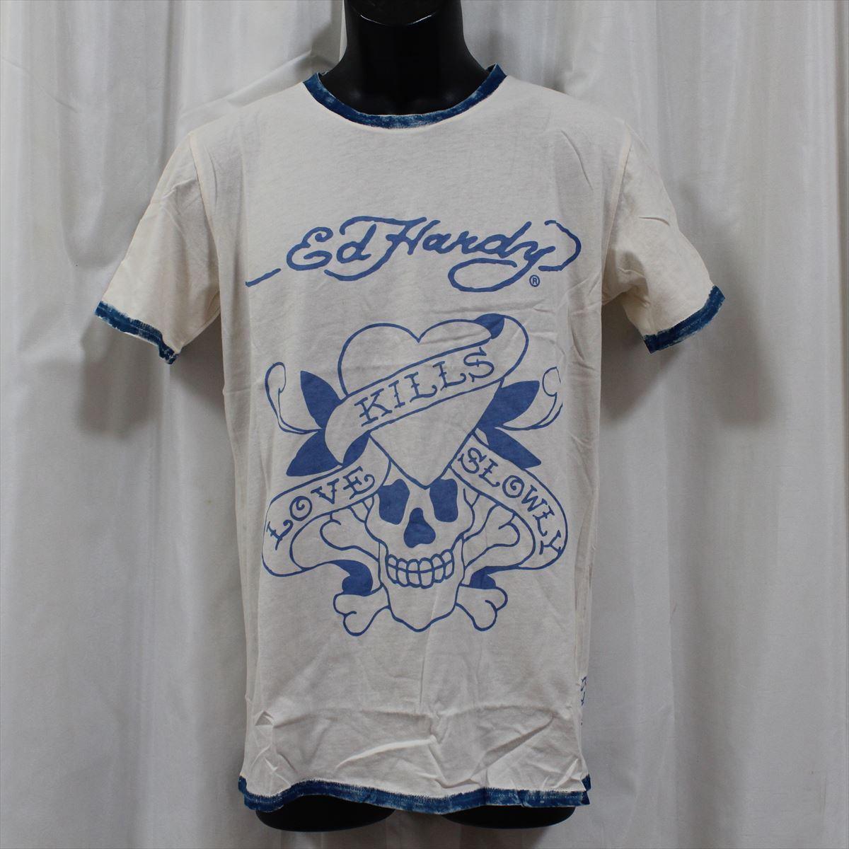 エドハーディー ED HARDY メンズ半袖Tシャツ Sサイズ サーフ M02SPR052 新品 ブルー LOVE KILLS SLOWLY_画像1