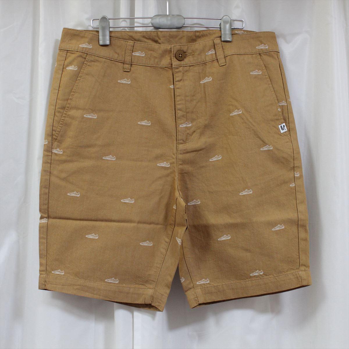 プーマ PUMA メンズ ショートパンツ テニスショーツ ハーフパンツ 短パン ベージュ US32 新品 モノグラム_画像1