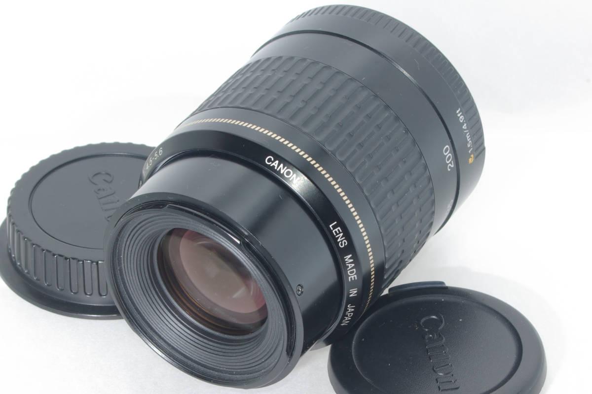 USM 望遠ズーム CANON EF 80-200mm F4.5-5.6 超音波モーター フルサイズ対応 純正レンズキャップ(前後) 実写確認済h_画像3
