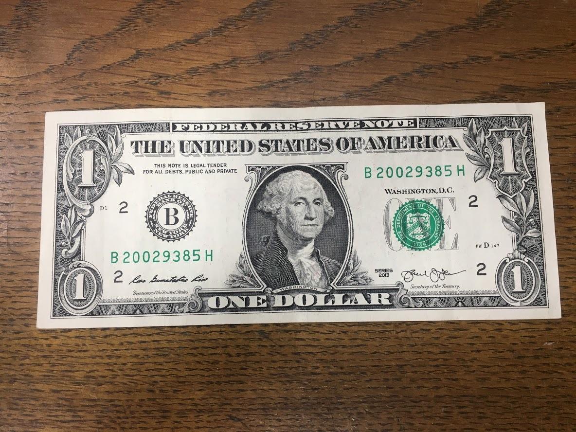 秘密 札 20 ドル