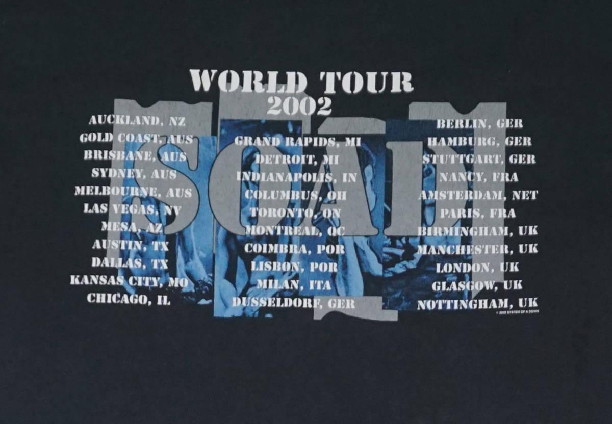 激レア! 2002年 SYSTEM OF A DOWN ツアー Tシャツ SLIPKNOT SIX FEET UNDER GODSMACK KORN SERJ TANKIAN DEFTONES DISTURBED LIMP BIZKIT_画像6