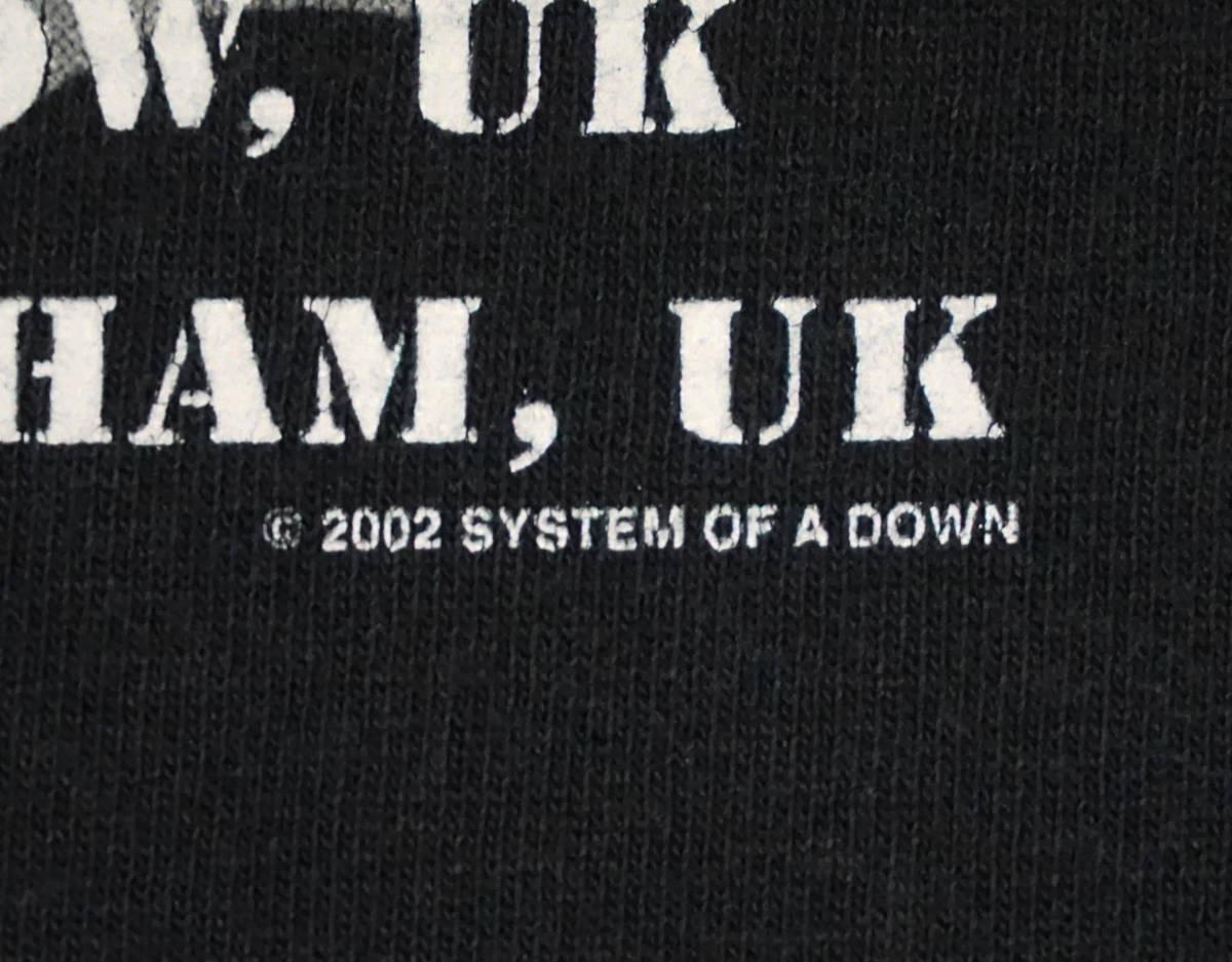 激レア! 2002年 SYSTEM OF A DOWN ツアー Tシャツ SLIPKNOT SIX FEET UNDER GODSMACK KORN SERJ TANKIAN DEFTONES DISTURBED LIMP BIZKIT_画像4