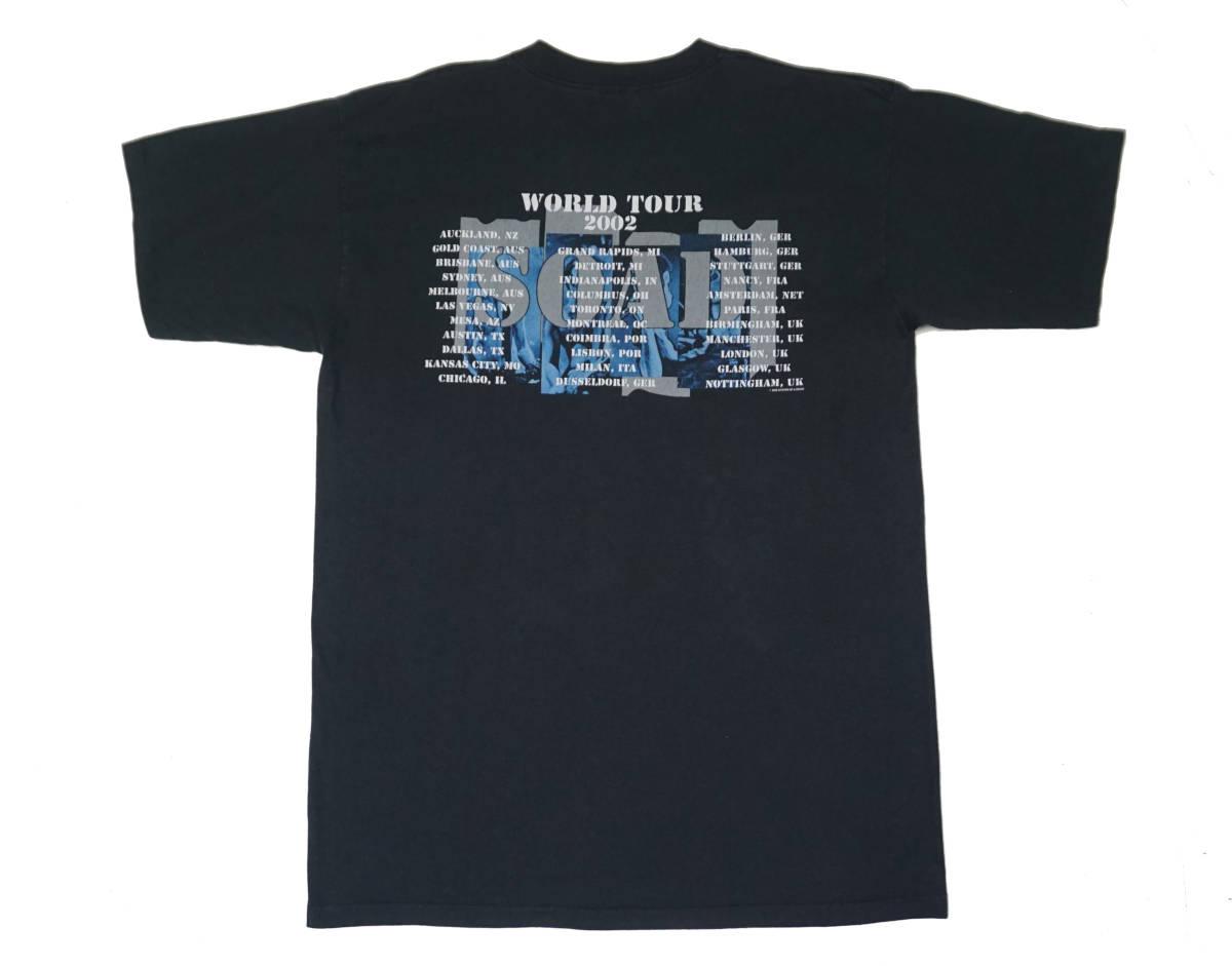 激レア! 2002年 SYSTEM OF A DOWN ツアー Tシャツ SLIPKNOT SIX FEET UNDER GODSMACK KORN SERJ TANKIAN DEFTONES DISTURBED LIMP BIZKIT_画像2