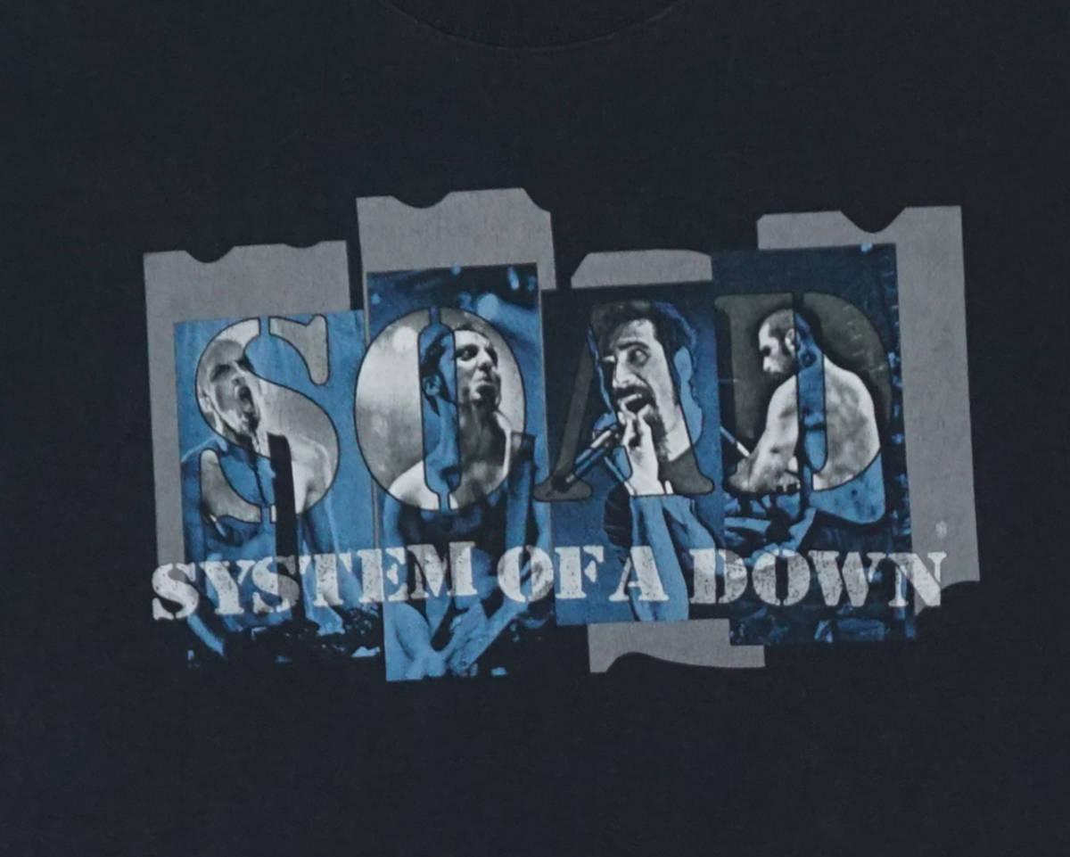激レア! 2002年 SYSTEM OF A DOWN ツアー Tシャツ SLIPKNOT SIX FEET UNDER GODSMACK KORN SERJ TANKIAN DEFTONES DISTURBED LIMP BIZKIT_画像5