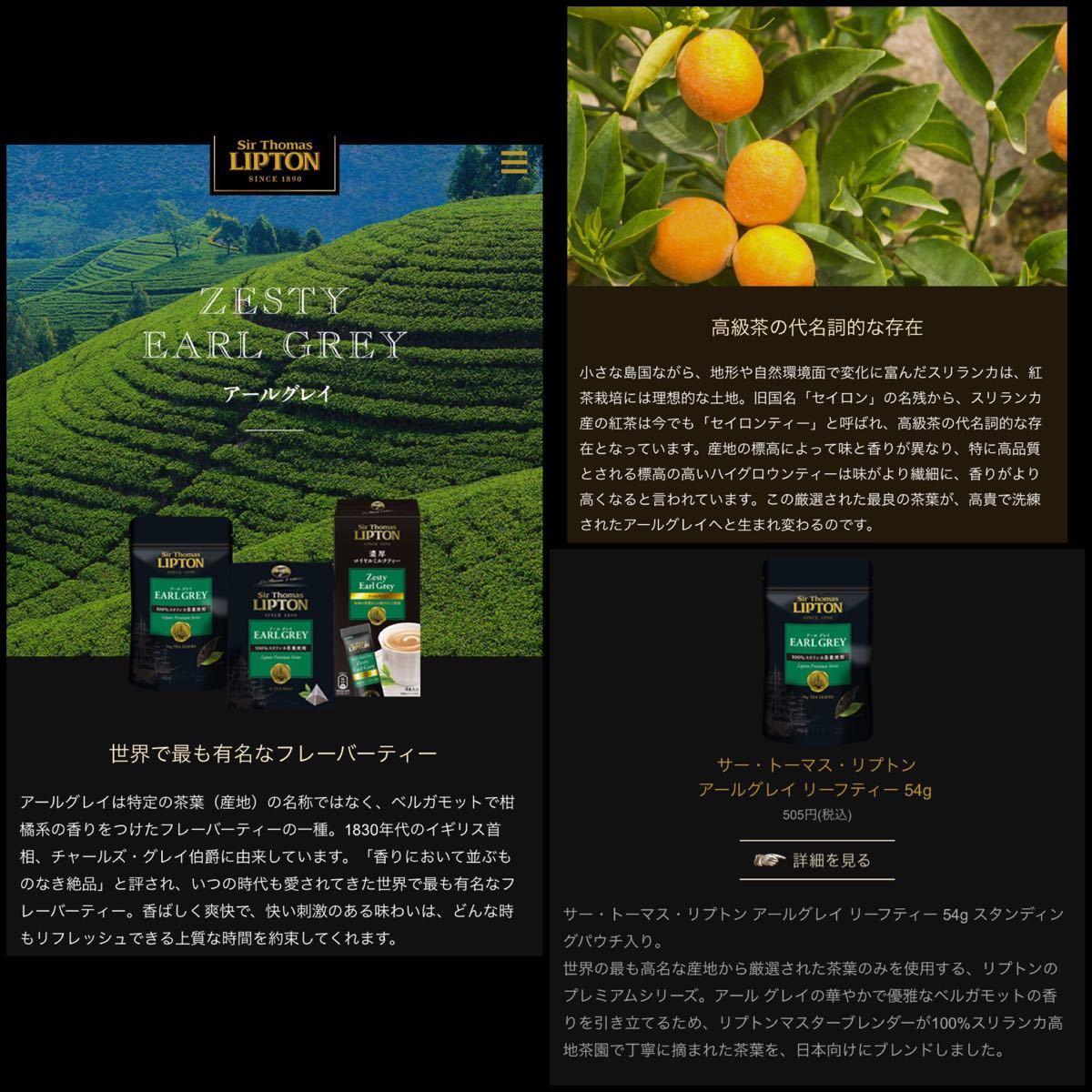 紅茶 リプトン LIPTON アールグレイ 3030円分 紅茶葉 お菓子作り